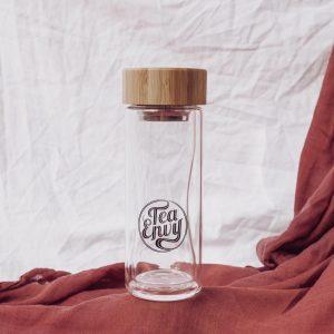 Tea Envy 300ml Glass Tea Infuser Bottle